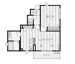 神奈川県川崎市麻生区万福寺5丁目の賃貸アパートの間取り
