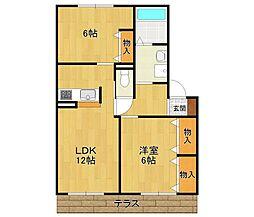 サニーハイツ梅ノ木[2階]の間取り