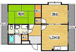 フナトマンション[2階]の間取り