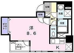 東京都港区芝大門2丁目の賃貸マンションの間取り