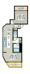 日新柏マンション[5階]の間取り