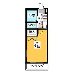 コンフォート天王森[2階]の間取り