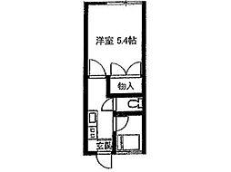 コーポラモナ[1階]の間取り
