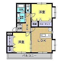 ユーミーLIFE[3階]の間取り