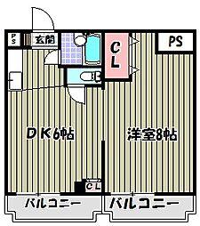パウゼ河内長野駅前[2階]の間取り