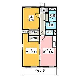 ファミール菱池[3階]の間取り