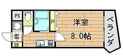 アベニューリップル小阪[505号室]の間取り