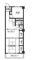 奥平マンション[2階]の間取り