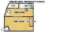 長井荘[1号室]の間取り