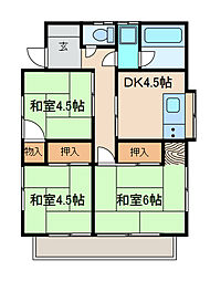 [一戸建] 神奈川県相模原市南区相模台6丁目 の賃貸【神奈川県 / 相模原市南区】の間取り