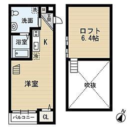 MYU5(エムワイユーファイブ)[2階]の間取り