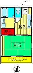 サンハイム桜台[205号室]の間取り