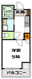 ヴィラ松屋町[8階]の間取り