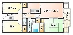 シティハイツ古川橋[4階]の間取り