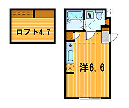 神奈川県横浜市神奈川区亀住町の賃貸アパートの間取り