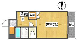 大阪府高槻市土室町の賃貸アパートの間取り