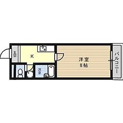 トレンディ21[3階]の間取り