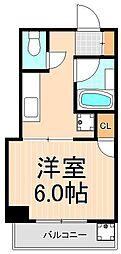 東京都台東区浅草4丁目の賃貸マンションの間取り