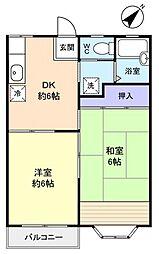 リバーサイド中里[1階]の間取り