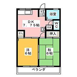ハイム丸喜[2階]の間取り