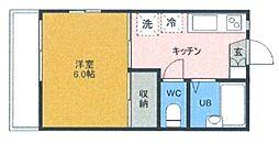 ハイツ木崎B棟[2階]の間取り