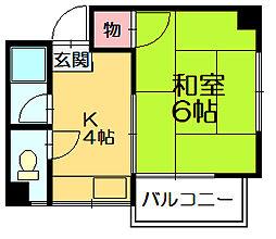 笹ハイツ[2階]の間取り