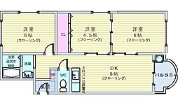 池田マンション[201号室]の間取り