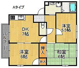 サンプライム阪南[2階]の間取り