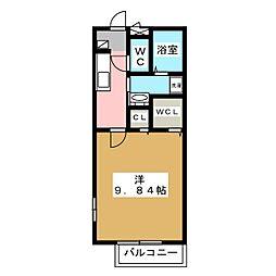 メルヴェーユ東静岡 B[2階]の間取り