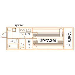 レジデンシャルスイーツ福岡[1階]の間取り