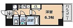 プレサンスOSAKA DOMECITY ワンダー[2階]の間取り