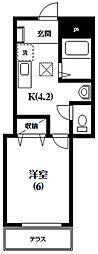 サンメゾンヒロ[1階]の間取り
