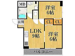 栗原マンション2[3階]の間取り