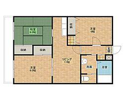 リヴェールマンション[2階]の間取り