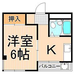 近藤アパート[301号室]の間取り