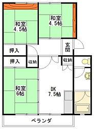 上浜団地[3階]の間取り