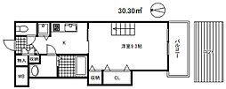 メトロポリタン[3階]の間取り