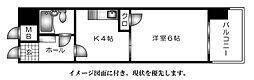 ダイアパレス舟入本町--[405号室]の間取り