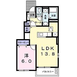 サンリットヒル IV[1階]の間取り