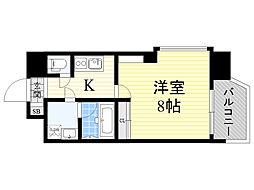 Pi´ece charmante Fukushima 3階1Kの間取り