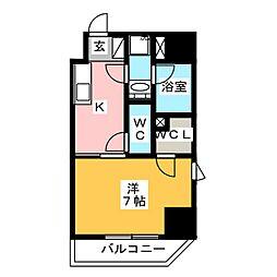 GRAN PASEO 浅草橋 3階1Kの間取り