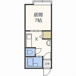 JPコート平岸公園[1階]の間取り