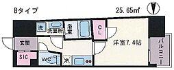 JPレジデンス大阪上町台 8階1Kの間取り