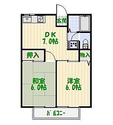 ヒロ大川I[0201号室]の間取り