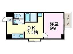 bespoke鶴舞[5A号室]の間取り