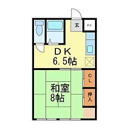 竹富士ビル[105号室]の間取り