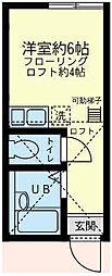 ユナイト 塩浜キャンベラの杜[2階]の間取り