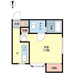 新潟県新潟市東区大形本町6丁目の賃貸アパートの間取り