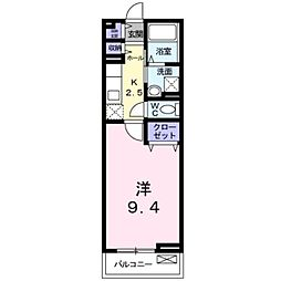 JR牟岐線 阿波富田駅 徒歩10分の賃貸アパート 2階1Kの間取り