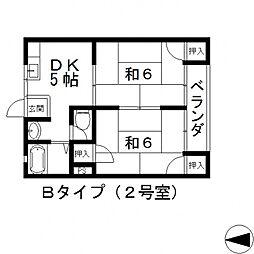 小阪大発マンション[402号室号室]の間取り